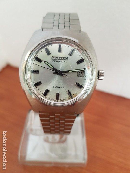 Relojes - Citizen: Reloj caballero (Vintage) CITIZEN acero automático con calendario a las tres horas, correa de acero - Foto 11 - 178300062