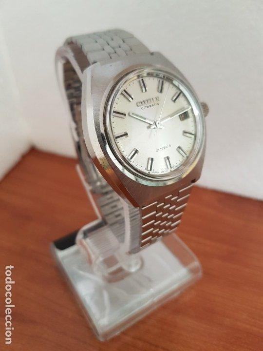 Relojes - Citizen: Reloj caballero (Vintage) CITIZEN acero automático con calendario a las tres horas, correa de acero - Foto 12 - 178300062