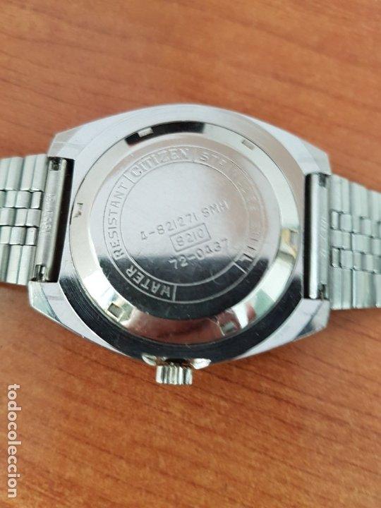 Relojes - Citizen: Reloj caballero (Vintage) CITIZEN acero automático con calendario a las tres horas, correa de acero - Foto 14 - 178300062