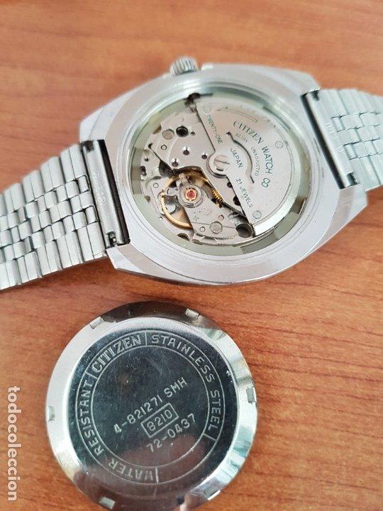 Relojes - Citizen: Reloj caballero (Vintage) CITIZEN acero automático con calendario a las tres horas, correa de acero - Foto 16 - 178300062