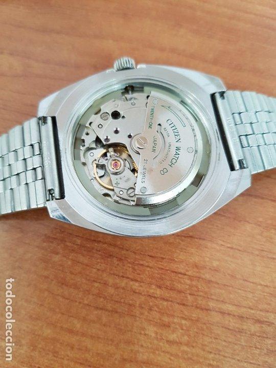 Relojes - Citizen: Reloj caballero (Vintage) CITIZEN acero automático con calendario a las tres horas, correa de acero - Foto 18 - 178300062