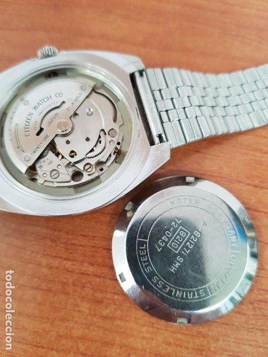 Relojes - Citizen: Reloj caballero (Vintage) CITIZEN acero automático con calendario a las tres horas, correa de acero - Foto 19 - 178300062