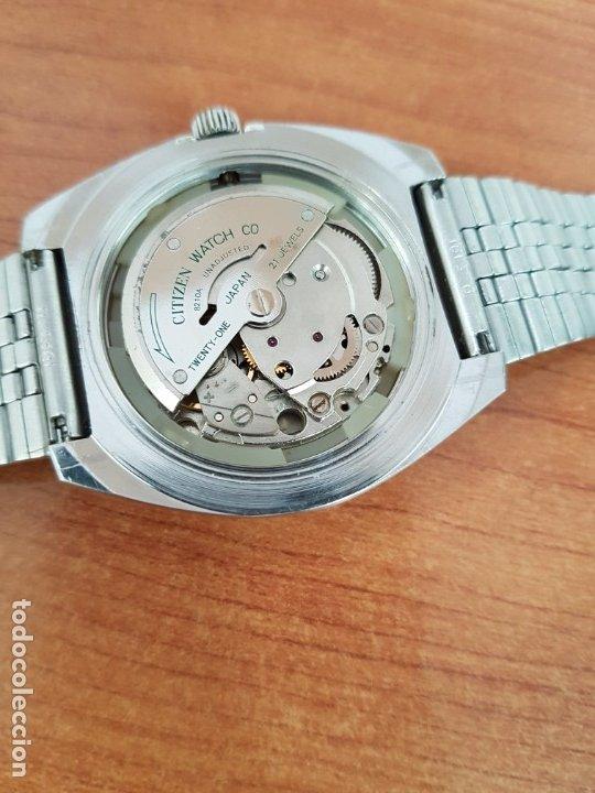 Relojes - Citizen: Reloj caballero (Vintage) CITIZEN acero automático con calendario a las tres horas, correa de acero - Foto 23 - 178300062