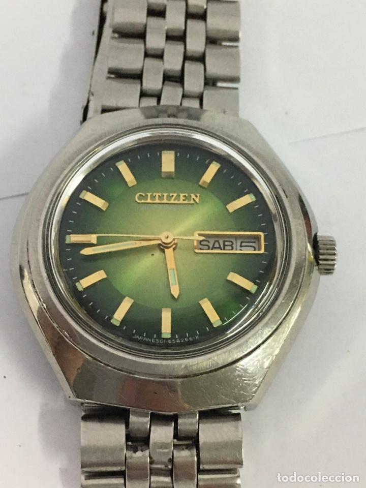 RELOJ CITIZEN AUTOMÁTICO ESFERA VERDE EN ACERO COMPLETO MODELO61-8730 (Relojes - Relojes Actuales - Citizen)
