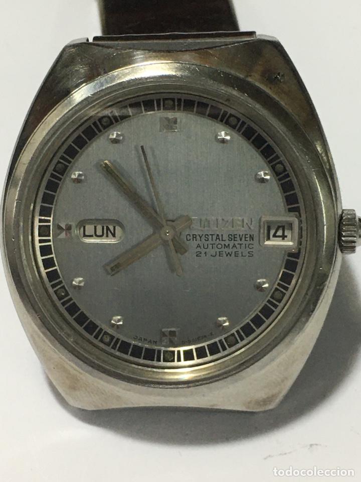 RELOJ CITIZEN AUTOMÁTICO CRYSTAL SEVEN 21 JEWELS EN ACERO COMPLETO MODELO 61-5030 (Relojes - Relojes Actuales - Citizen)