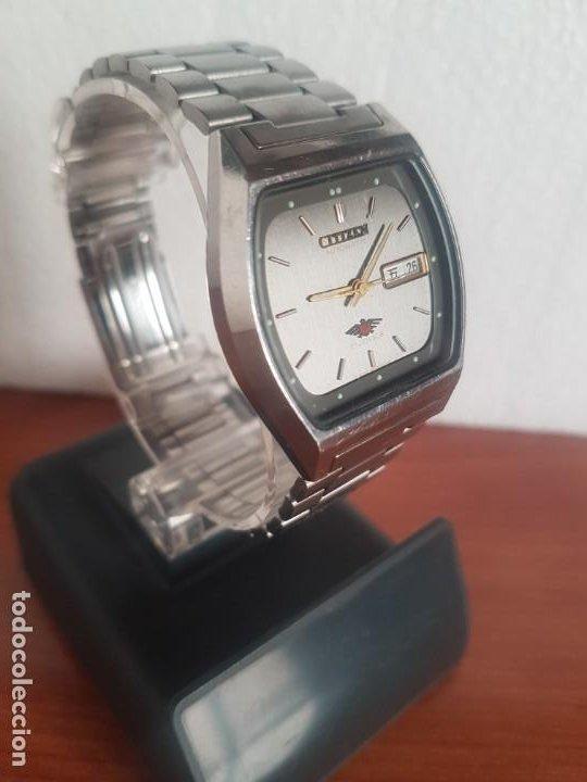 RELOJ CABALLERO (VINTAGE) CITIZEN AUTOMÁTICO 21 RUBIS CON DOBLE CALENDARIO, CORREA ACERO ORIGINAL (Relojes - Relojes Actuales - Citizen)