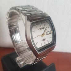 Relojes - Citizen: RELOJ CABALLERO (VINTAGE) CITIZEN AUTOMÁTICO 21 RUBIS CON DOBLE CALENDARIO, CORREA ACERO ORIGINAL . Lote 191196550