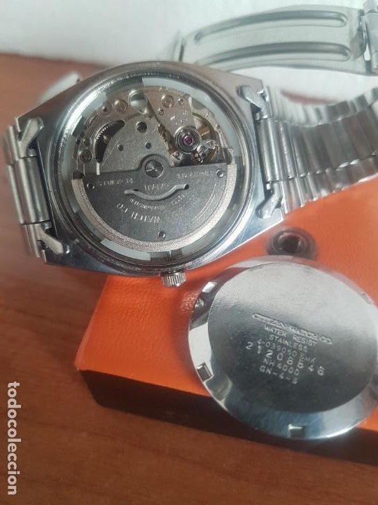 Relojes - Citizen: Reloj caballero (Vintage) CITIZEN automático 21 rubis con doble calendario, correa acero original - Foto 5 - 191196550