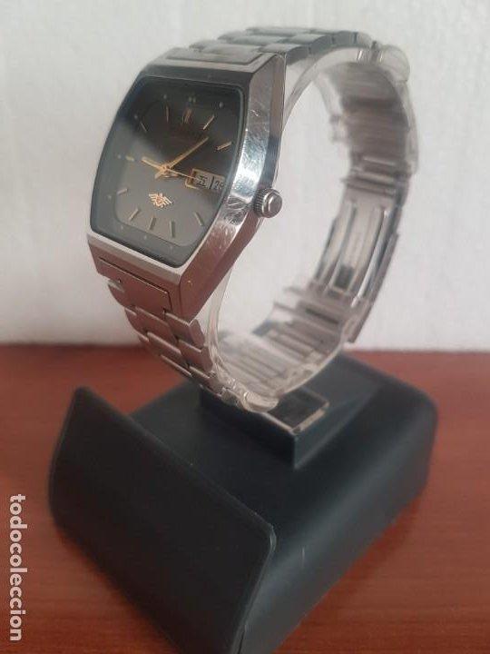 Relojes - Citizen: Reloj caballero (Vintage) CITIZEN automático 21 rubis con doble calendario, correa acero original - Foto 6 - 191196550