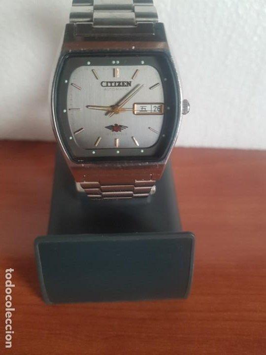 Relojes - Citizen: Reloj caballero (Vintage) CITIZEN automático 21 rubis con doble calendario, correa acero original - Foto 8 - 191196550