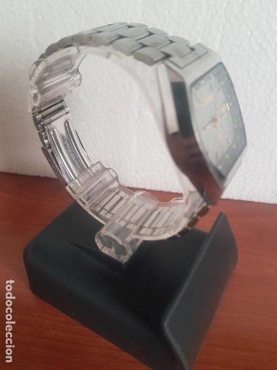 Relojes - Citizen: Reloj caballero (Vintage) CITIZEN automático 21 rubis con doble calendario, correa acero original - Foto 9 - 191196550