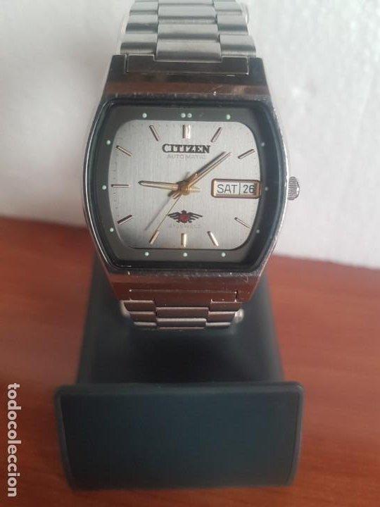 Relojes - Citizen: Reloj caballero (Vintage) CITIZEN automático 21 rubis con doble calendario, correa acero original - Foto 10 - 191196550