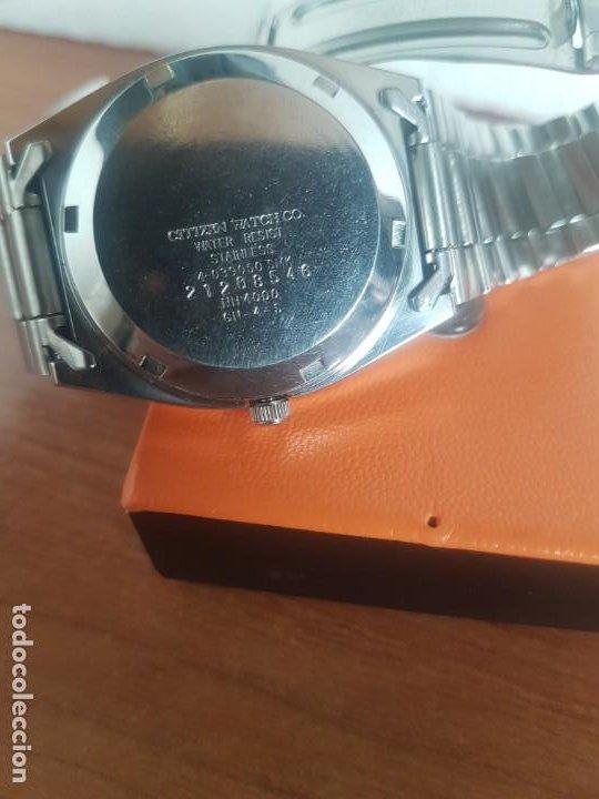 Relojes - Citizen: Reloj caballero (Vintage) CITIZEN automático 21 rubis con doble calendario, correa acero original - Foto 18 - 191196550