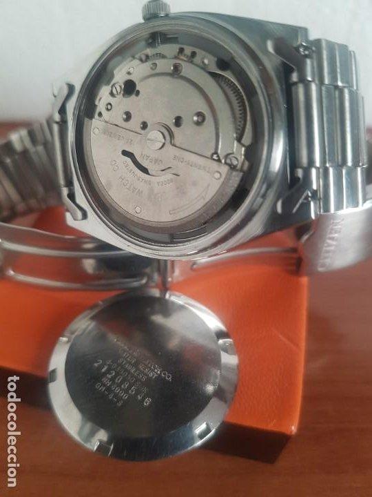 Relojes - Citizen: Reloj caballero (Vintage) CITIZEN automático 21 rubis con doble calendario, correa acero original - Foto 21 - 191196550
