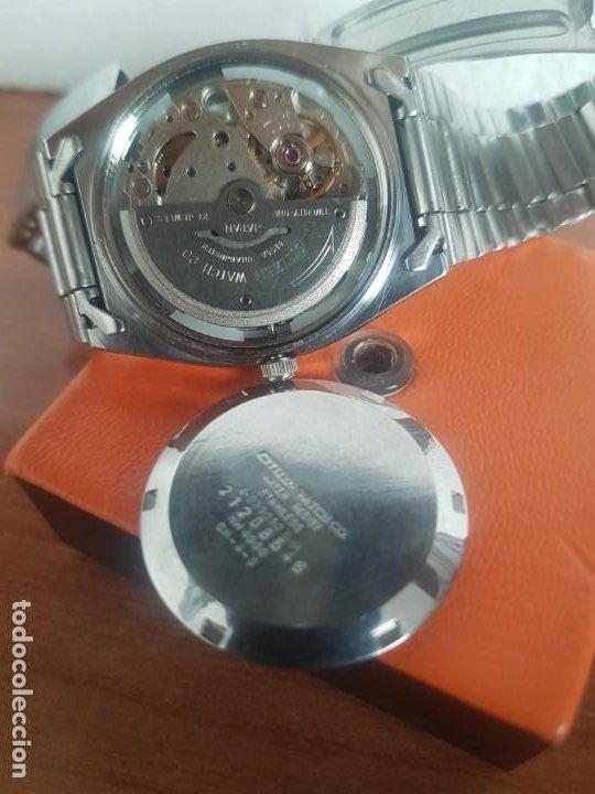 Relojes - Citizen: Reloj caballero (Vintage) CITIZEN automático 21 rubis con doble calendario, correa acero original - Foto 23 - 191196550