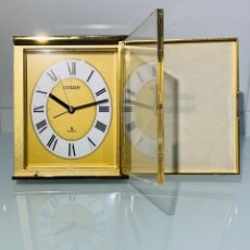 Relojes - Citizen: RELOJ SOBREMESA CITIZEN QUARTZ JAPON QKB-874. DESPERTADOR. PORTAFOTOS. AÑOS 70/80. FUNCIONANDO.. Lote 193432626