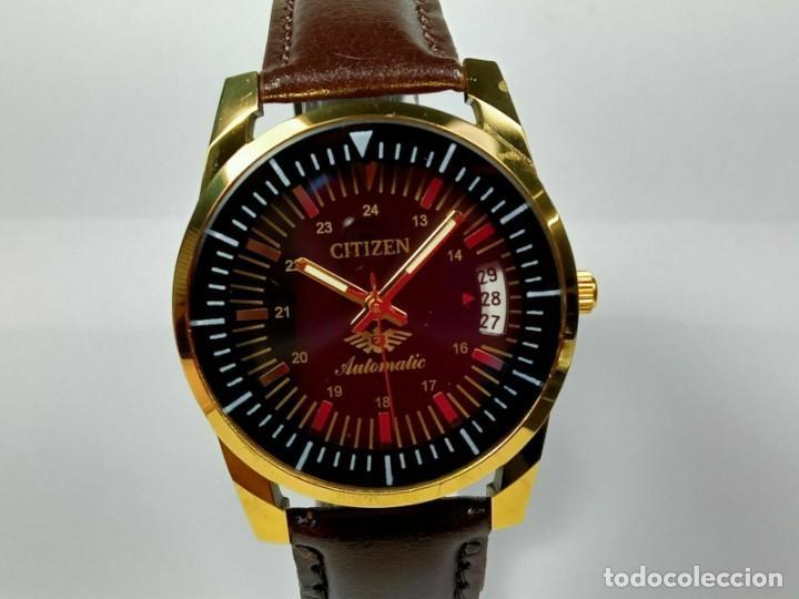 Relojes - Citizen: Reloj Citizen Automatic Vintage para hombre, chapado en oro AU26 - Foto 2 - 194554878