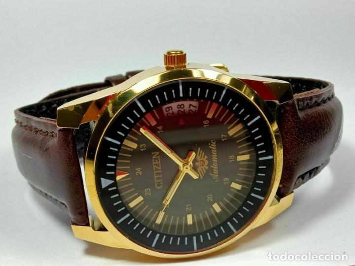 Relojes - Citizen: Reloj Citizen Automatic Vintage para hombre, chapado en oro AU26 - Foto 3 - 194554878