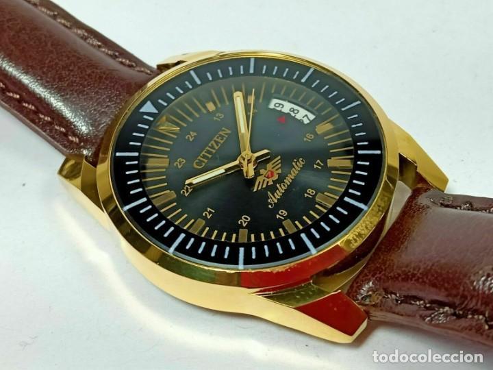 Relojes - Citizen: Reloj Citizen Automatic Vintage para hombre, chapado en oro AU26 - Foto 4 - 194554878