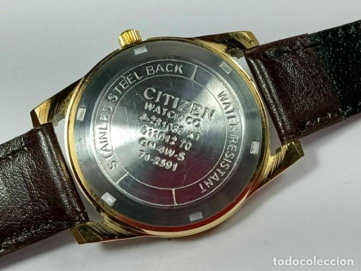 Relojes - Citizen: Reloj Citizen Automatic Vintage para hombre, chapado en oro AU26 - Foto 5 - 194554878