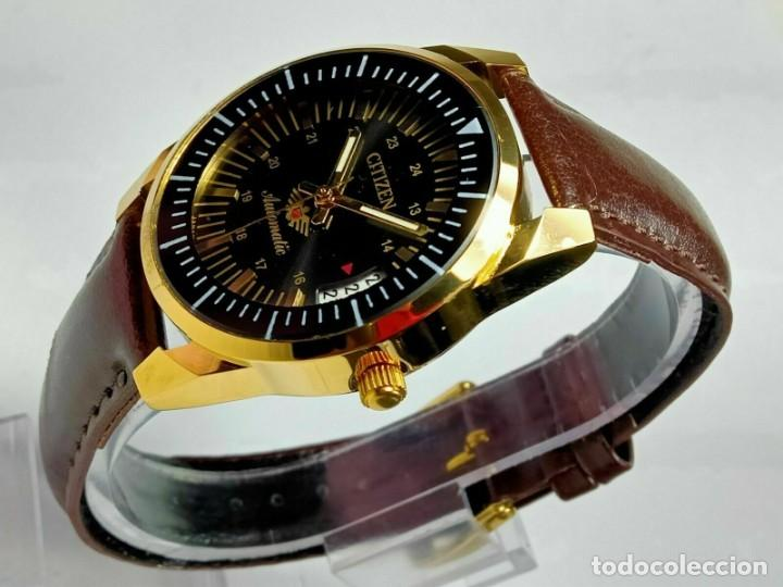 Relojes - Citizen: Reloj Citizen Automatic Vintage para hombre, chapado en oro AU26 - Foto 8 - 194554878