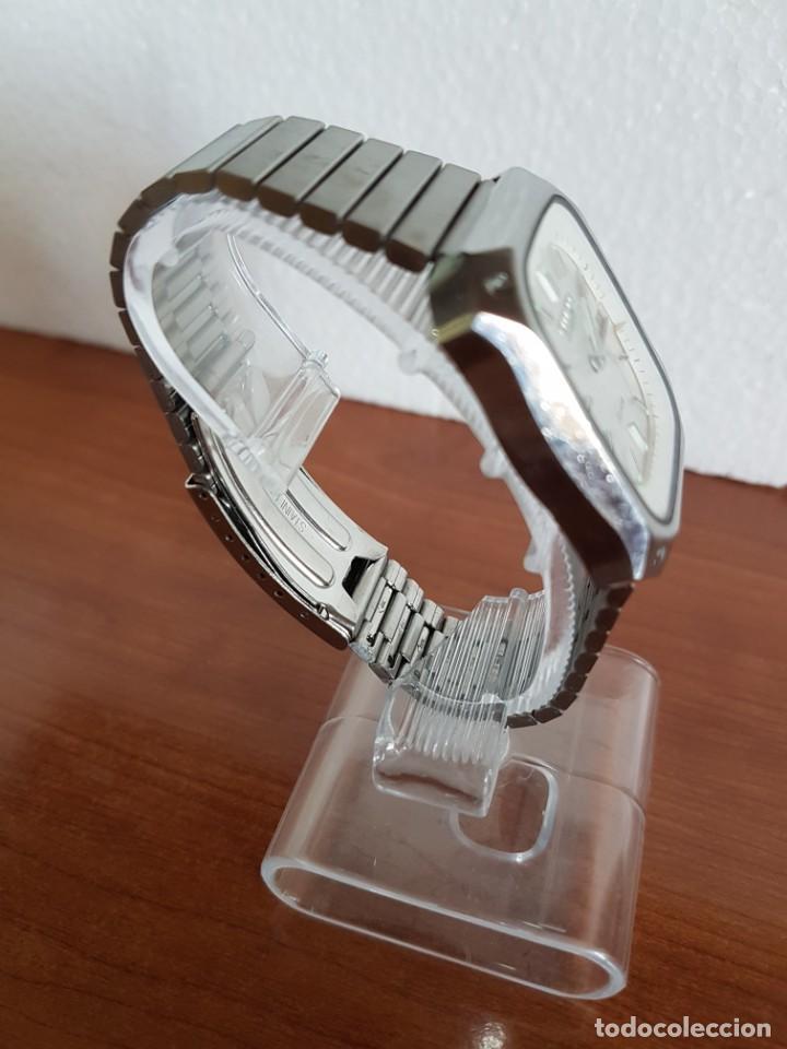 Relojes - Citizen: Reloj CITIZEN de cuarzo en acero con doble calendario, esfera blanca, correa acero original CITIZEN. - Foto 5 - 202652791