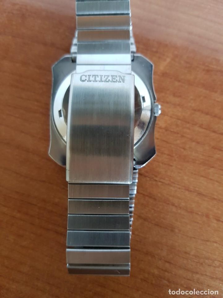 Relojes - Citizen: Reloj CITIZEN de cuarzo en acero con doble calendario, esfera blanca, correa acero original CITIZEN. - Foto 11 - 202652791