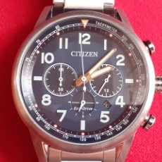 Relojes - Citizen: IMPECABLE RELOJ CITIZEN CHRONOGRAFI ECO-DRIVE CUARZO FUNCIONA BIEN .MIDE 42MM DIAMETRO. Lote 211984233
