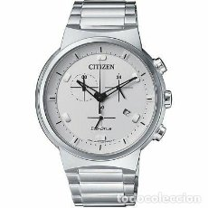 Relojes - Citizen: CITIZEN ECO-DRIVE MEN'S CHRONOGRAPH SILVER-TONE 41MM WATCH AT2400-81A. Lote 220984485