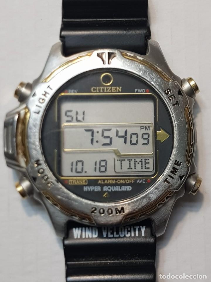 RELOJ CABALLERO BUCEO CITIZEN PROMASTER HYPER AQUALAND 200 M FUNCIONANDO ESCASO (Relojes - Relojes Actuales - Citizen)
