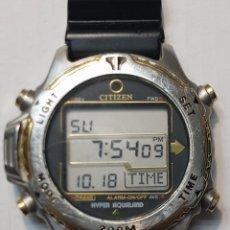 Relojes - Citizen: RELOJ CABALLERO BUCEO CITIZEN PROMASTER HYPER AQUALAND 200 M FUNCIONANDO ESCASO. Lote 221496711