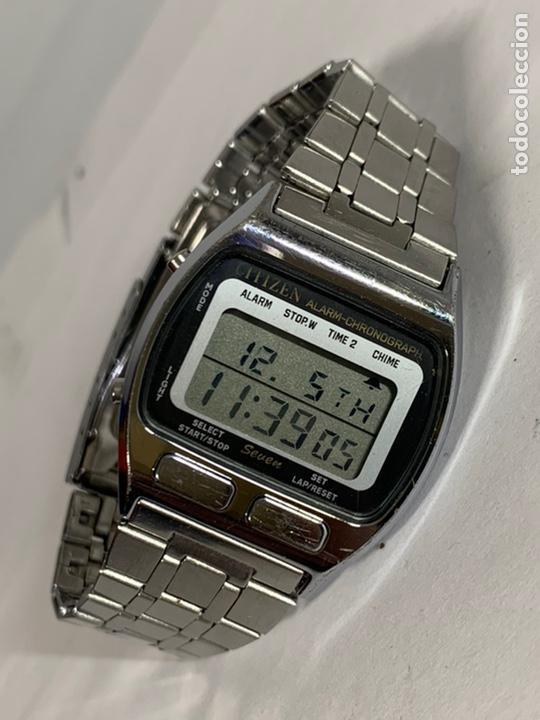Relojes - Citizen: Reloj vintage CITIZEN MULTI ALARM-CHRONOGRAPH QUARTZ LCD JAPAN - Foto 2 - 227920511
