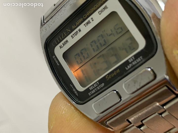 Relojes - Citizen: Reloj vintage CITIZEN MULTI ALARM-CHRONOGRAPH QUARTZ LCD JAPAN - Foto 4 - 227920511