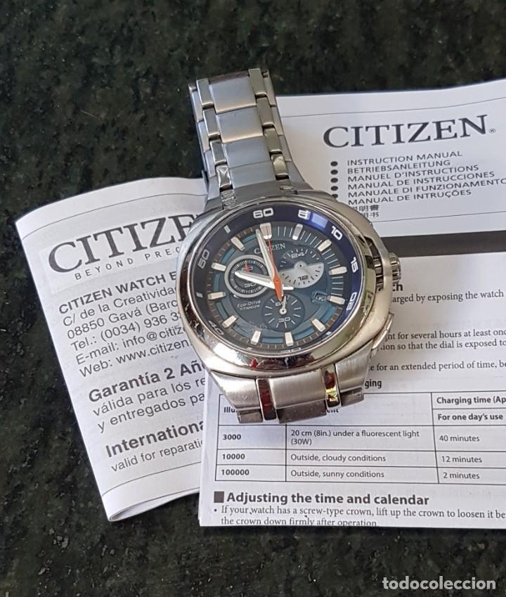 RELOJ CITIZEN CABALLERO. AUTOMÁTICO Y SUMERGIBLE. ECO - DRIVE TITANIO (Relojes - Relojes Actuales - Citizen)