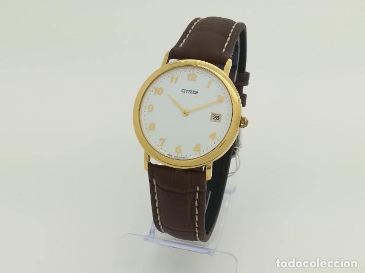"Relojes - Citizen: Reloj de oro CITIZEN Cuarzo Fecha 18k ""Grabado"" 33mm de caja - Foto 2 - 236020440"