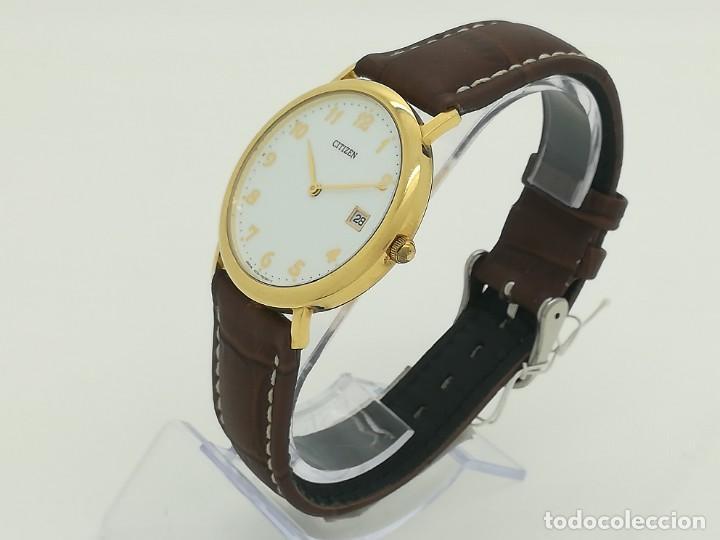 "Relojes - Citizen: Reloj de oro CITIZEN Cuarzo Fecha 18k ""Grabado"" 33mm de caja - Foto 4 - 236020440"