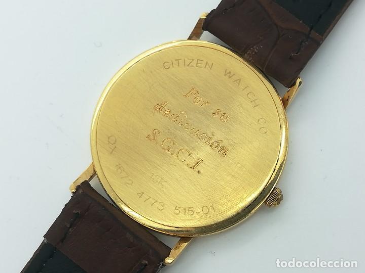 "Relojes - Citizen: Reloj de oro CITIZEN Cuarzo Fecha 18k ""Grabado"" 33mm de caja - Foto 5 - 236020440"