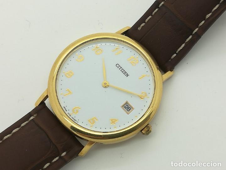 "Relojes - Citizen: Reloj de oro CITIZEN Cuarzo Fecha 18k ""Grabado"" 33mm de caja - Foto 6 - 236020440"