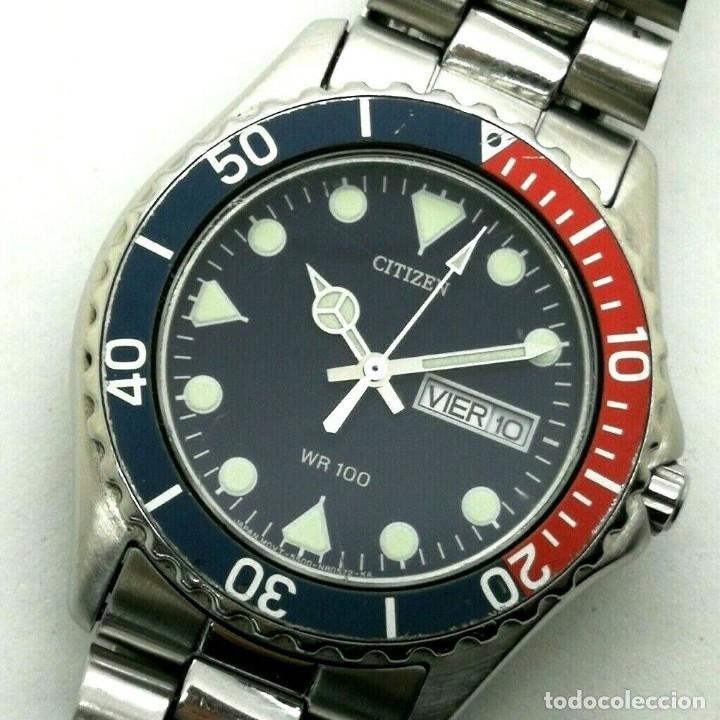 MEN'S CITIZEN ACTION 2000 PEPSI WR 100 - 6600-S70070 - 38MM QUARTZ WATCH (Relojes - Relojes Actuales - Citizen)