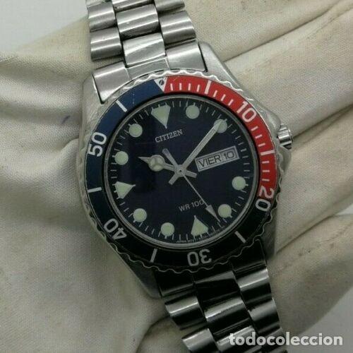 Relojes - Citizen: Mens CITIZEN Action 2000 Pepsi WR 100 - 6600-s70070 - 38mm Quartz Watch - Foto 2 - 236456975