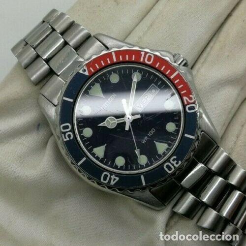 Relojes - Citizen: Mens CITIZEN Action 2000 Pepsi WR 100 - 6600-s70070 - 38mm Quartz Watch - Foto 4 - 236456975