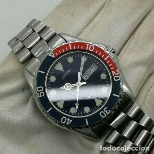 Relojes - Citizen: Mens CITIZEN Action 2000 Pepsi WR 100 - 6600-s70070 - 38mm Quartz Watch - Foto 5 - 236456975