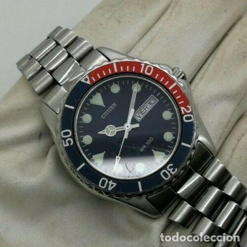 Relojes - Citizen: Mens CITIZEN Action 2000 Pepsi WR 100 - 6600-s70070 - 38mm Quartz Watch - Foto 6 - 236456975
