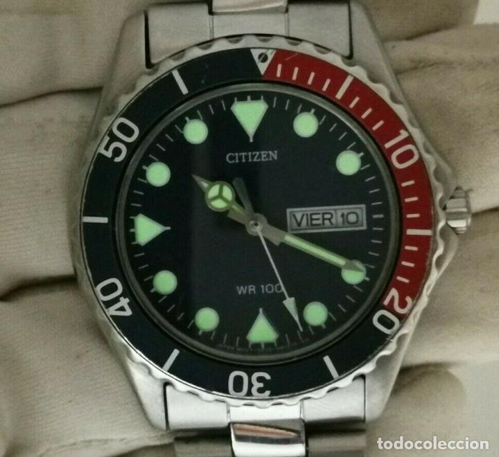 Relojes - Citizen: Mens CITIZEN Action 2000 Pepsi WR 100 - 6600-s70070 - 38mm Quartz Watch - Foto 12 - 236456975