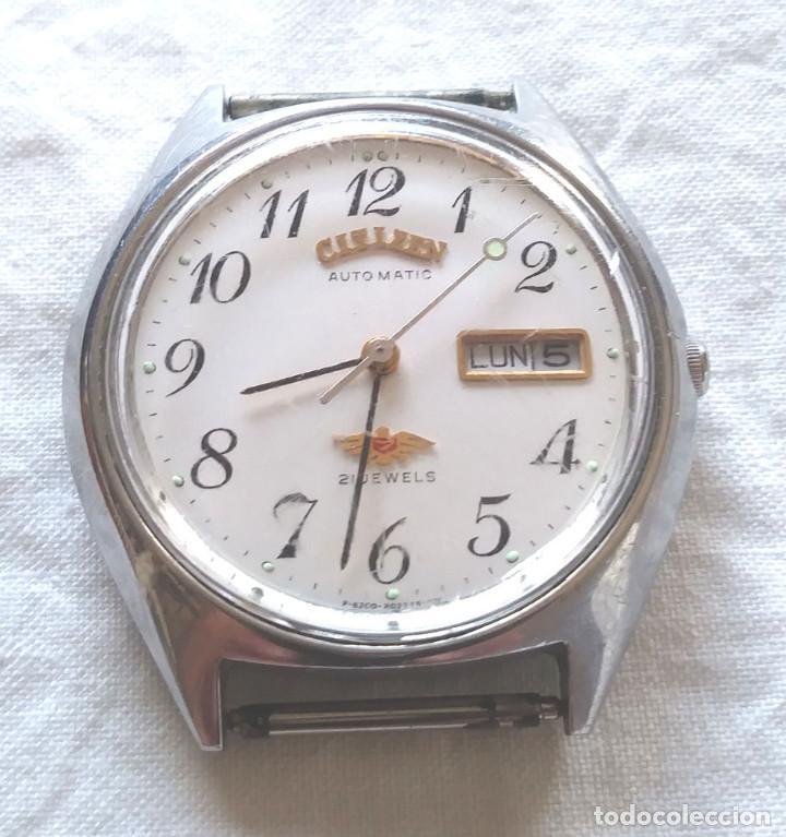 CITIZEN AUTOMÁTICO CALENDARIO 25 JEWELS INCABLOC SWISS VINTAGE, FUNCIONA. MED. 36 MM (Relojes - Relojes Actuales - Citizen)