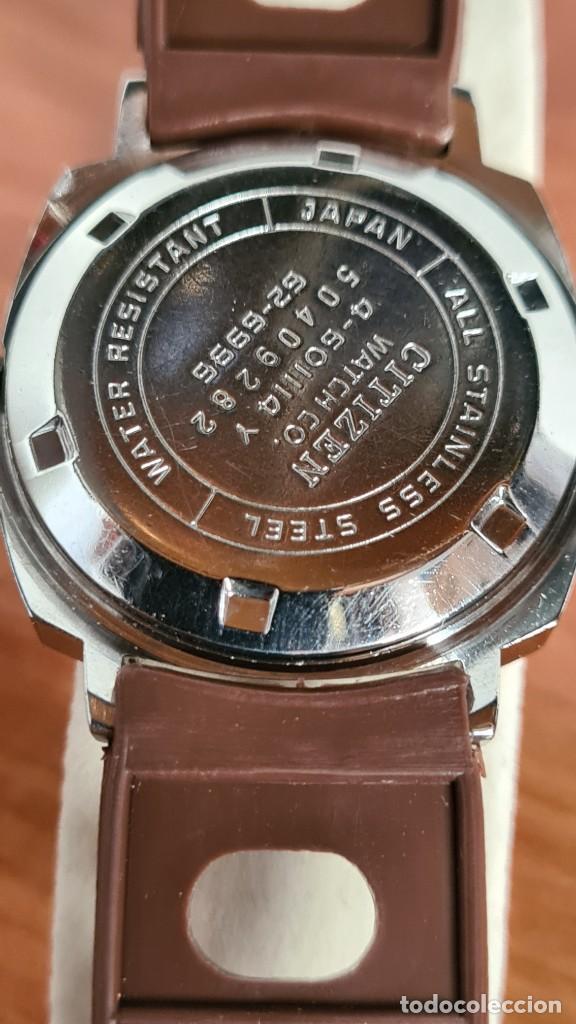 Relojes - Citizen: Reloj caballero, unisex (Vintage) CITIZEN automático 21 rubís con calendario, correa silicona marrón - Foto 11 - 242898760