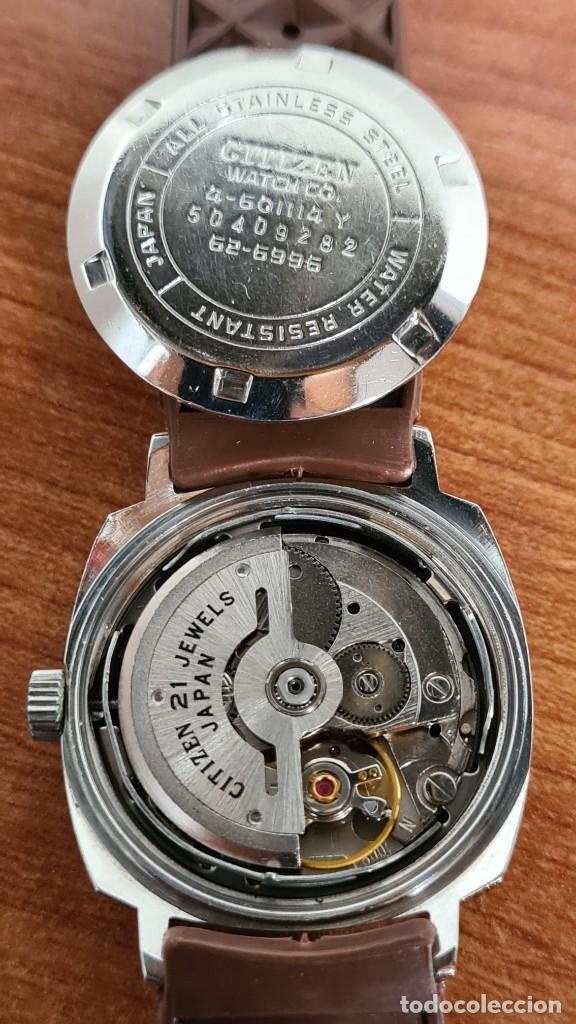Relojes - Citizen: Reloj caballero, unisex (Vintage) CITIZEN automático 21 rubís con calendario, correa silicona marrón - Foto 15 - 242898760