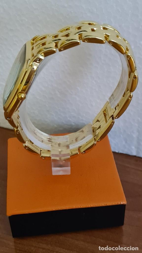 Relojes - Citizen: Reloj unisex (Vintage) CITIZEN cuarzo chapado de oro, esfera blanca, calendario las tres, correa ori - Foto 10 - 243259880