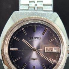 Relojes - Citizen: RELOJ CABALLERO (VINTAGE) CITIZEN AUTOMATICO 25 RUBIS, ESFERA AZUL, CALENDARIO LAS TRES, 67-4273.. Lote 247674375