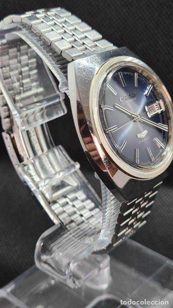 Relojes - Citizen: Reloj caballero (Vintage) CITIZEN automatico 25 rubis, esfera azul, calendario las tres, 67-4273. - Foto 6 - 247674375